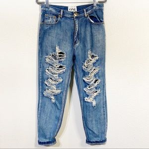 One Teaspoon Super Baggie Denim Jeans Size 26